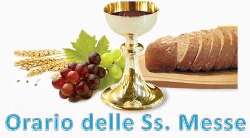 Orario ss. Messe 1
